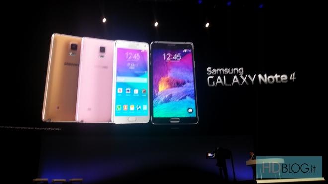 Presentato Samsung Galaxy Note 4